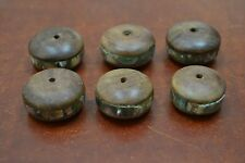 12 PCS ROUND ABALONE SEA SHELL WOOD BEADING BEADS #T-763