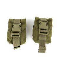 Set of 2, Eagle Industries Frag Grenade Pouches Small GP Pouch Khaki USGI SFLCS