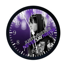 Justin Bieber Black Frame Wall Clock Nice For Decor or Gifts W76