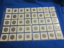 """LOT OF 40 WORLDWIDE COINS- 2 SHEETS (20 COINS/SHEET).COINS IN 2""""X2""""COIN HOLDER"""