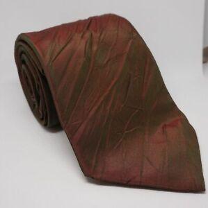 Kenzo Krawatte Rot uni 147x9 cm 100% Seide -19