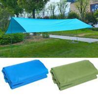 Waterproof Camping Tent Tarp Outdoor Shade Sun Rain Mat Hot Canopy Shelter K3R0