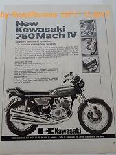 KAWASAKI 750 MACH IV_pubblicità originale del 1972_advertising_werbung_publicitè