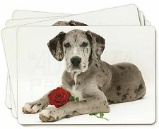 Great Dane with Red Rose Picture Placemats in Gift Box, AD-GD2RP
