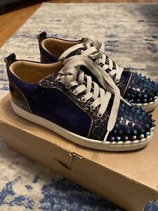 CHRISTIAN LOUBOUTIN Louis Junior Spikes Sneakers EU 39/US 9 Authentic