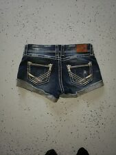 BKE LADIES STELLA FACTORY DISTRESSED SHORTS, SIZE 29