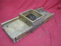 Rustic Antique Primitive Cabbage Kraut Slaw Cutter Wooden Slicer Shredder W/Box