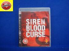 ps3 SIREN BLOOD CURSE English Language Survival Horror Game Playstation PAL UK