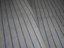 Antique Vtg. French Ticking Stripe Cotton Fabric ~ Blue Brown~apparel home quilt