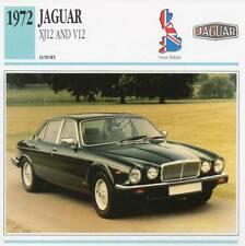 1972 JAGUAR XJ12 and V12 Classic Car Photograph / Information Maxi Card