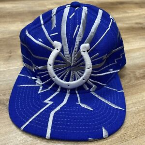 INDIANAPOLIS COLTS NFL FOOTBALL VINTAGE 90s STARTER COLLISION SNAPBACK HAT BNWT