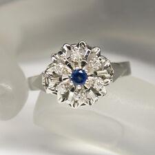 Ring mit ca. 0,10ct Saphir und 0,12ct W-si Brillant in 750/18K Weißgold