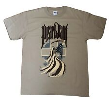 PEARL JAM WASHINGTON DC 2008 tour shirt Large American REAPER rare Brown