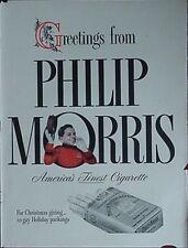 "1941 PHILIP MORRIS CIGARETTES ADVERTISEMENT W/ ""JOHNNY THE BELLBOY"""