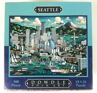 D·O·W·D·L·E Folk Art Jigsaw Puzzle Seattle 18x24 500 Piece Puzzle Sealed