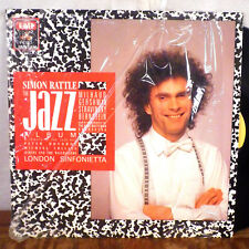 RARE Simon Rattle The Jazz Album Peter Donohoe LP EMI Angel Digital shrink M-