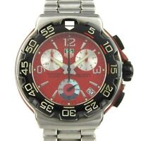 TAG HEUER F1 CAC1112 CHRONOGRAPH 1/10 Professional 200m RED Dial Watch Used