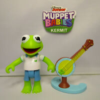 2018 Disney Jr. Muppet Babies Kermit the Frog & Banjo Loose & Complete Figure