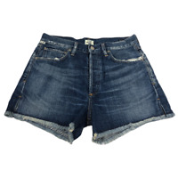"Citizens Of Humanity Alyx Blue Denim Cut-Off Shorts Women's Size 27"" Waist"