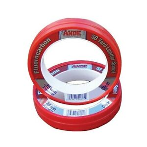 Ande FCW-40-50 Fluorocarbon 40# 50yd Saltwater Fishing Line Leader Spool