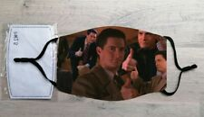 Thumbs up Cooper face mask (Twin Peaks, David Lynch, Dale Cooper, Laura Palmer)
