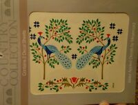 Meyercord Vintage Water Applied Decals Transfers Country Peacocks Birds NOS