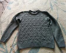 mens's grey knit jumper size medium