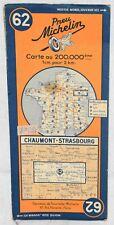 Carte MICHELIN n°62 - 1939 - Chaumont Strasbourg
