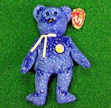 NEW Ty Beanie Baby Decade The Dark Blue Version 10 Year Bear MWMT- FREE Shipping