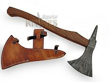 Knives Exporter Custom Hand Made Damascus Steel Viking Tomahawk Hatchet Axe Head