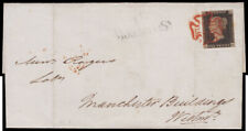 SG2 1840 1d. Black Pl.2 (AA). MAY 14th. 1840. Local LONDON cover tied by a ne...