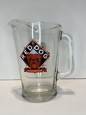 Vintage, Usa, Red Dog Beer, Glass Pitcher