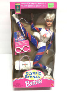 1996 Collectible Olympic Gymnast Barbie Doll Blonde Atlanta 1996  New