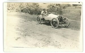 RPPC Unidentified Early Car Racecar? Swan Duck Goose? Real Photo Postcard
