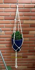 "Macramé Plant or Aquarium Hanging Basket Handmade 39"" New 4mm Cotton Cord - CH01"