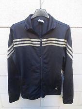 Veste ADIDAS girl femme noir or sport détente loisir jacket tracktop 42 D40 UK14