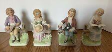 Norleans 4 Piece Set Colonial Figurines Porcelain Collectable Decor