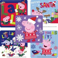 "25 Peppa Pig Christmas Stickers, 2.5"" x 2.5"" each, Party Favors"