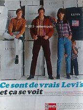 PUBLICITE LEVI'S LEVI STRAUSS JEANS PANTALON LEVIS POUR TOUS DE 1966 FRENCH AD