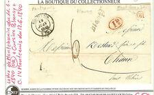 LETTRE MONCHANIN OR 11.6.1840 + CURSIVE BLANCY+ C. 14 MONTCENIS 12.6.1840 + 1DEC