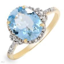 Ring With 3.20ctw Precious Stones  Diamonds & Topaz !!!