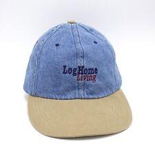 Log Home Living Denim Khaki cap hat buckle Strapback Unstructured