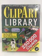 More details for clipart library deluxe 10 cd rom box set 250,000 clip art files grafics music