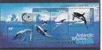 Australian Antarctica Block 1 I Singapore ´95 Whales + Dolphins (MNH)