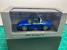 Porsche 911 (991) Targa 4 2013 Blue Met Minichamps 1/43 scale