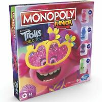Hasbro Dreamworks Trolls World Tour Monopoly Board Game Junior Edition - Ages 5+