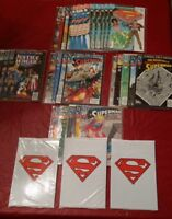 SUPERMAN: HUGE ~35 BOOK LOT; DEATH, FUNERAL DOOMSDAY, JUSTICE LEAGUE, NOT CGC