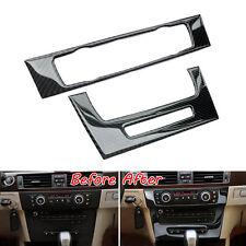 Carbon Fiber Interior Console Air Condition CD Panel Cover Trim For BMW E90 05+