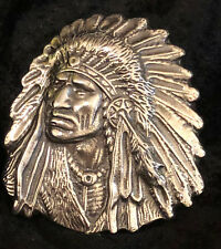 "12 Oz MK BarZ ""Spirit of Native America"" Sand Cast LTD .999 FS Relief"