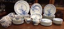69 pcs Harvest Blue Dinnerware by Clarice Cliff England  AJ Wilkinson Co.